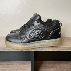 Heelys Premium 1 Lo Black Leather Sneakers